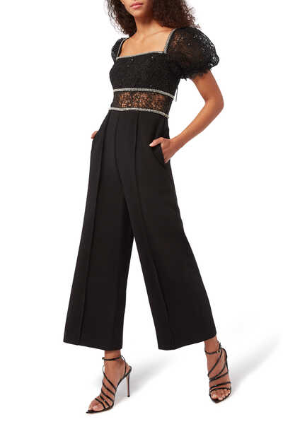 Sequin Circle Lace Jumpsuit