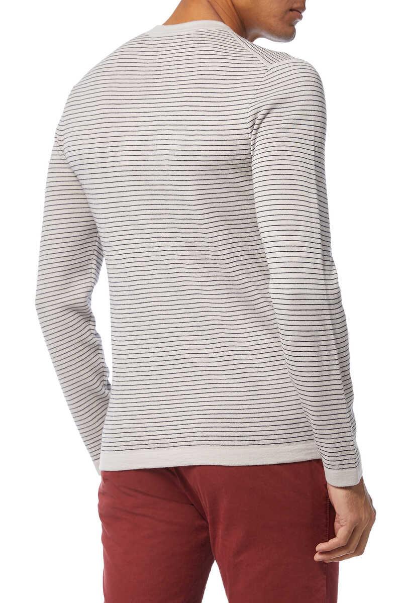 Merino Wool Stripe Sweater image number 3