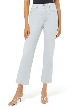 90's Pinch Waist High Rise Straight Jeans