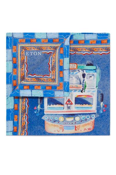 Van Print Pocket Square
