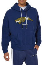 Croco Hooded Sweatshirt