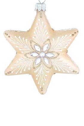 Glass Beaded Star Ornament