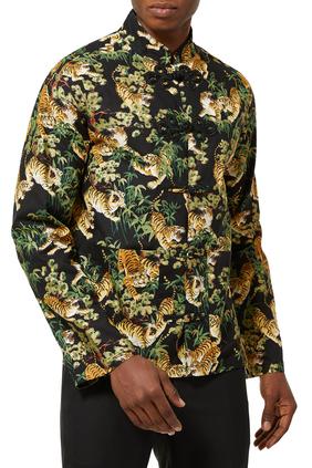 Chinese Tiger Print Shirt