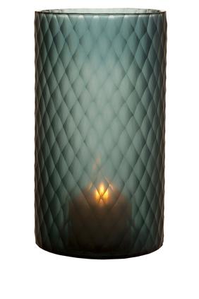 Large Morton Hurricane Sapphire Candle Holder