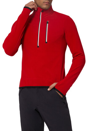 Tricolor Zip Pullover