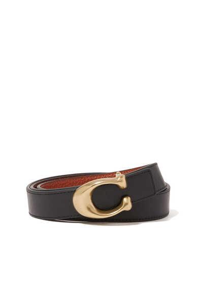 Signature Buckle Reversible Belt