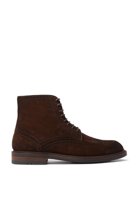 Suede Lace-Up Boots