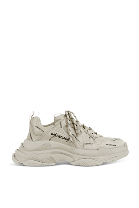 All Over Logo Triple S Sneakers