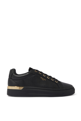 GRFTR Midnight Leather Gold Sneakers