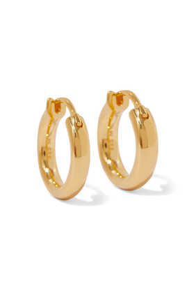 Mini Gold Vermeil Tunnel Hoops