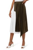 Pleated Side Closure Skirt