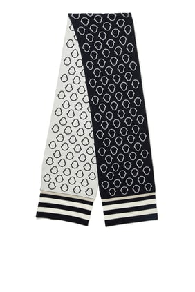 All-Over Logo Detail Scarf