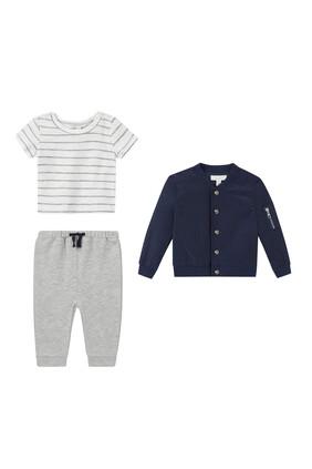 Jacket, T-Shirt & Joggers Set