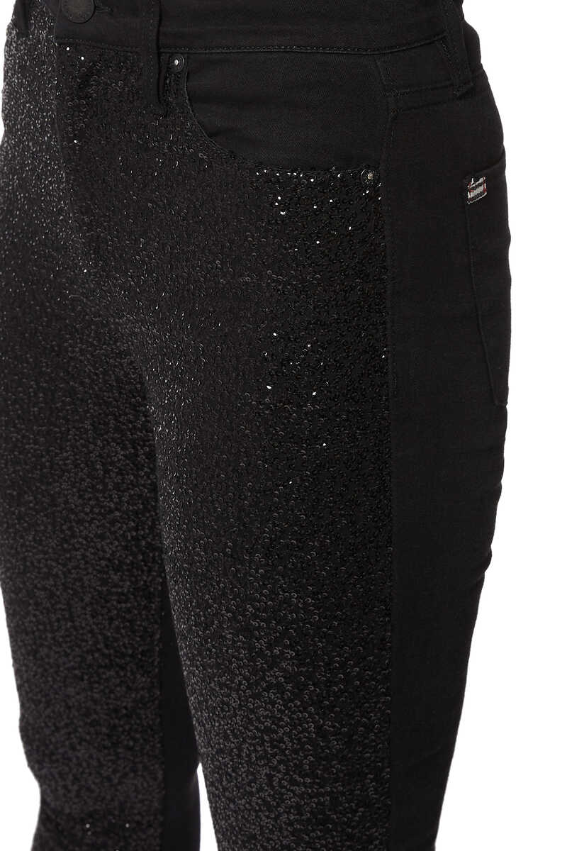 Good Sequin Ankle Skinny Jeans image number 4