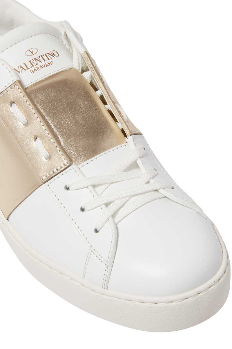 Valentino Garavani Patent Striped Open Sneakers image number 4