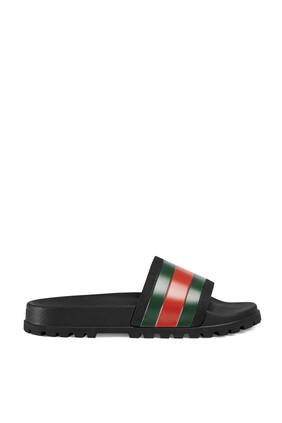 Web Slide Sandals
