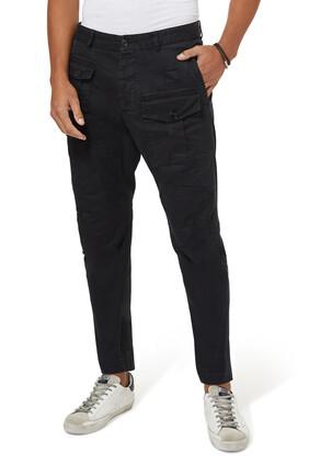 Cotton Twill Cargo Pants