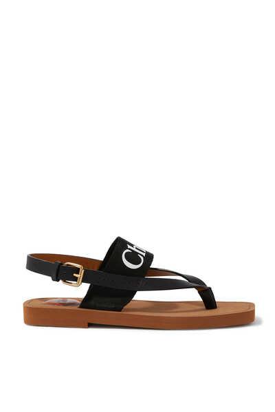Woody Logo Sandals