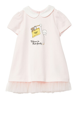 Milano-Stitch Cotton Dress