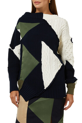Hank Willis Thomas Solid Mix Knit Pullover