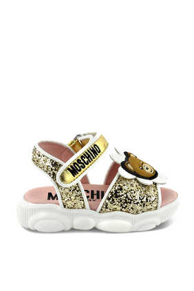 Teddy Bear Glitter Sandals