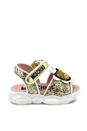 Teddy Bear Glitter Sandals