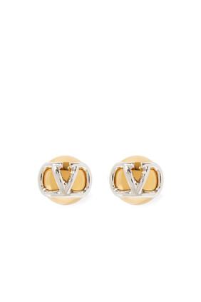 V Logo Signature Earrings