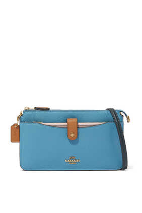 Noa Pop-Up Colourblock Leather Messenger Bag