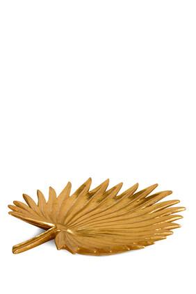 Palm Leaf Gold Tray