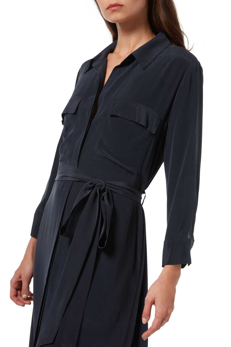 Cameron Silk Shirt Dress image number 4