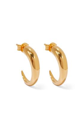 Medium Plain Claw Hoop Earrings