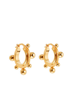 Medium Sphere Hoop Earrings