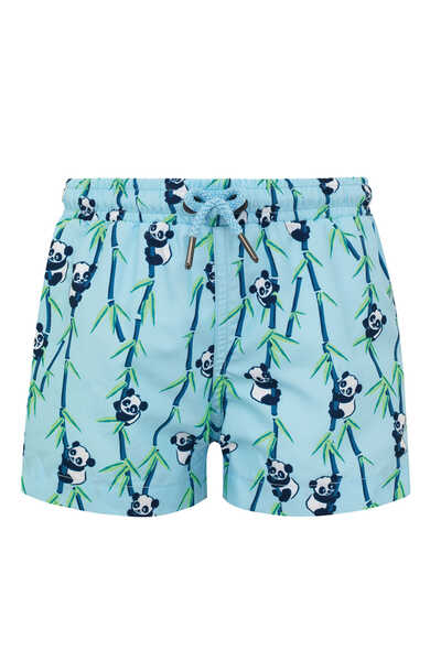 Panda Print Swim Shorts