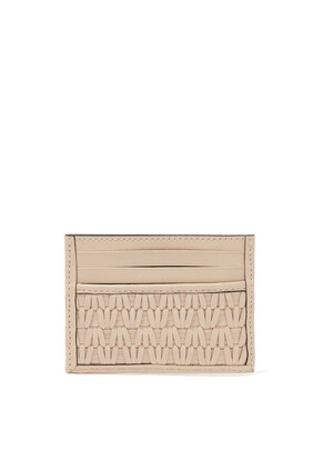 Card Case in Woven Leather