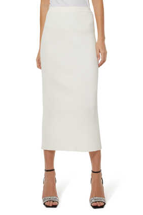 Brooklyn Compact Knit Midi Skirt