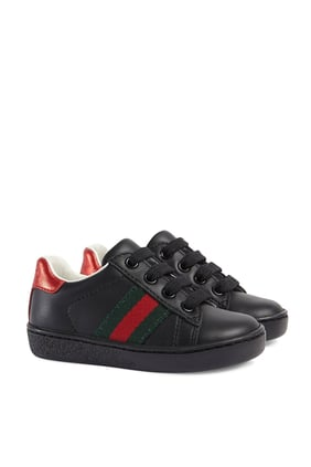 Toddler Leather Low-Top Sneaker With Web