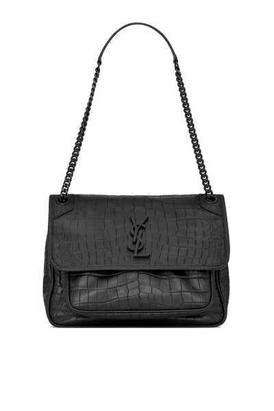 Niki Medium in Soft Crocodile-Embossed Leather