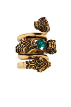 Double Wrap Tiger Head Ring