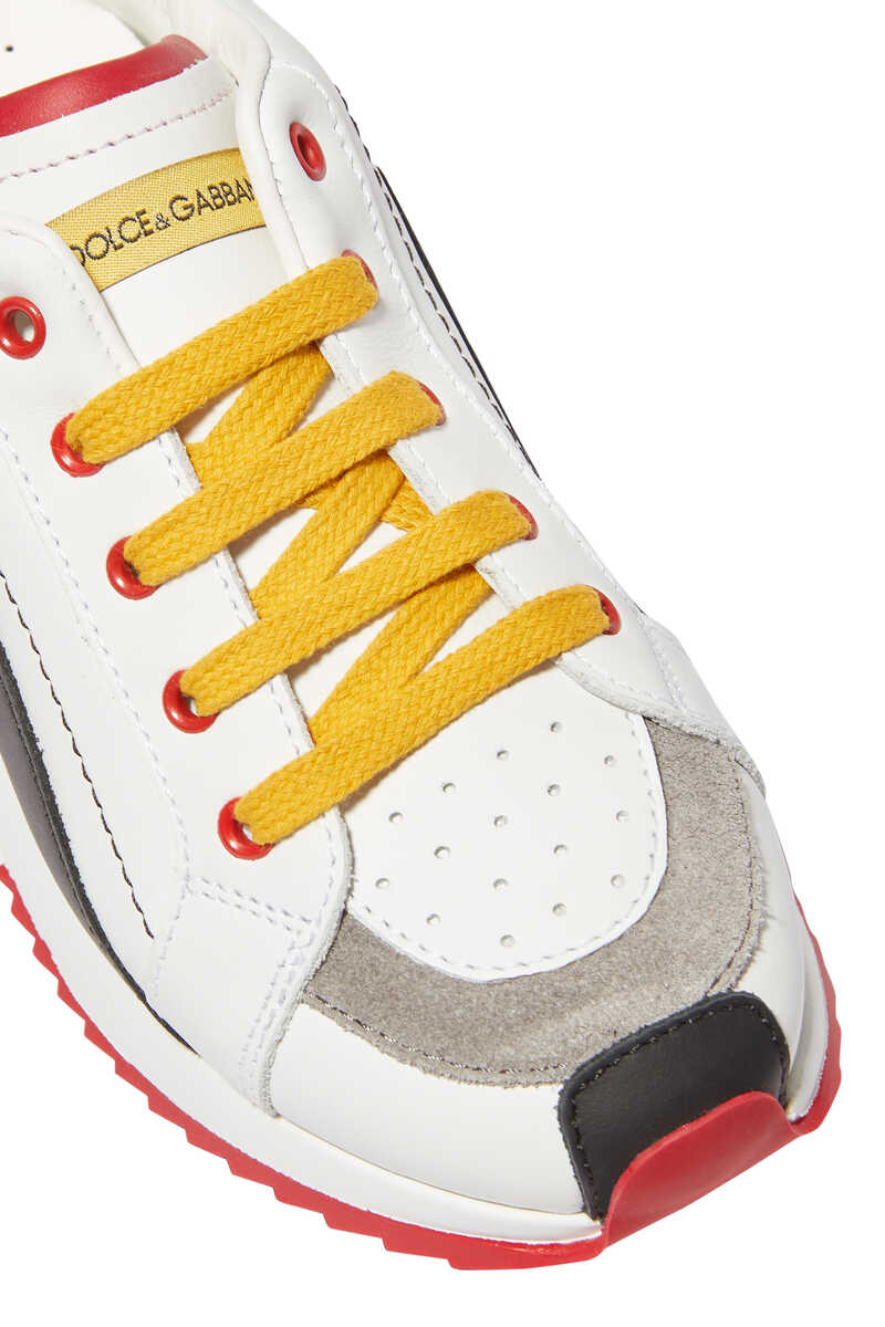 Multi-Color Leather Sneakers image number 4