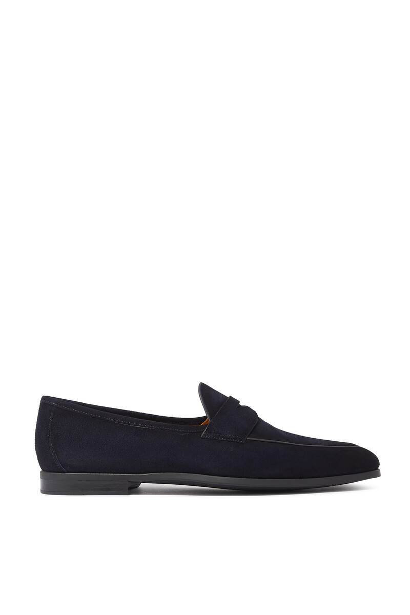 - Aston Suede Penny Loafers