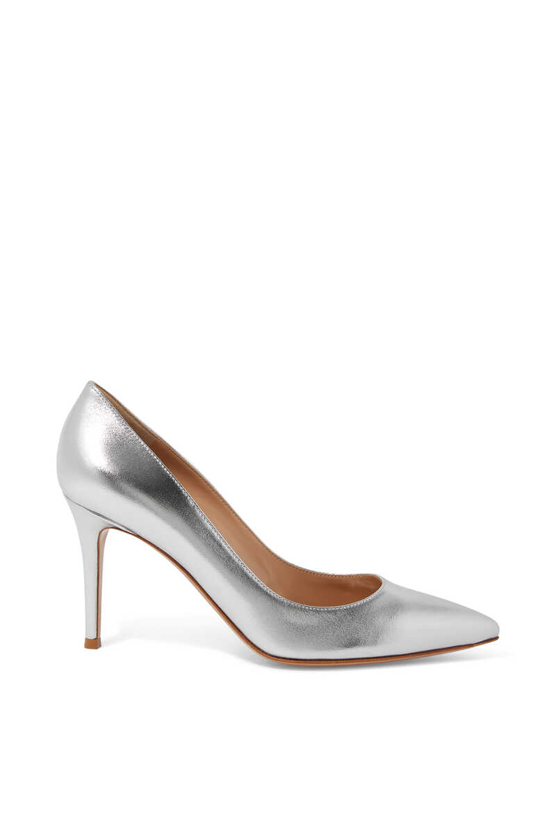 85 Metallic Leather Pumps image number 1
