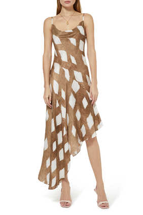 Kamilla Abstract Print Dress