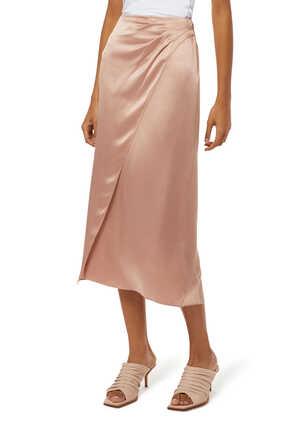Side Pleat Wrap Skirt