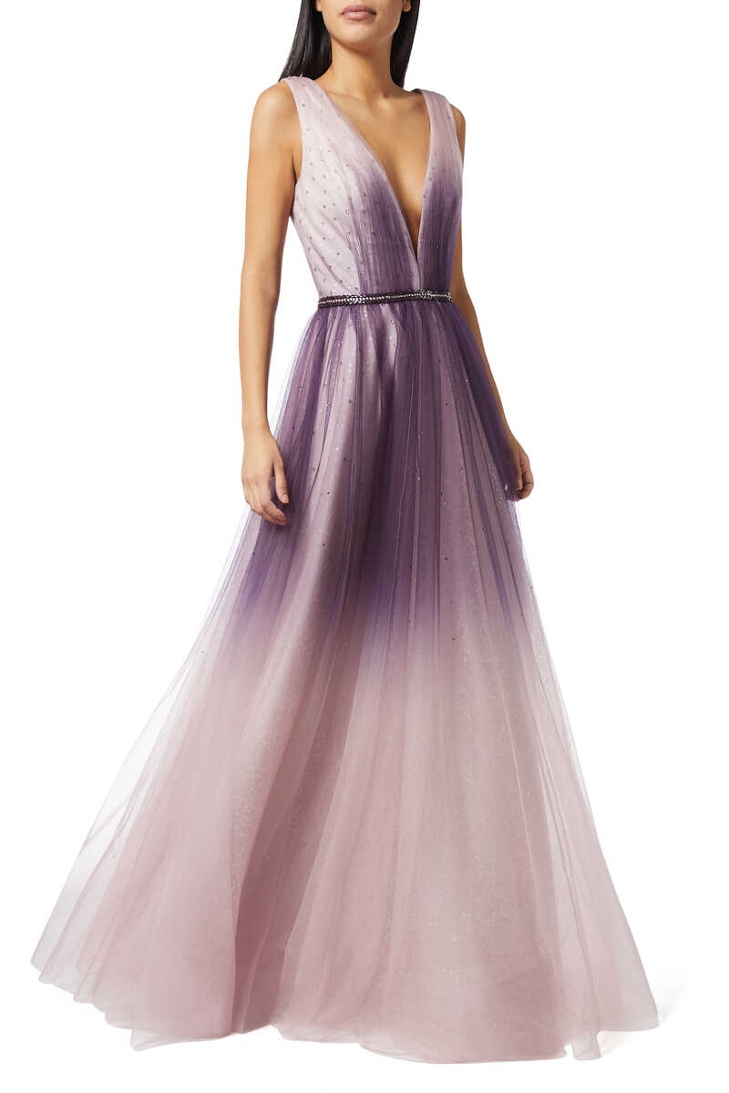 Ombre Sleeveless Gown image thumbnail number 2