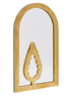 Cedar Design Brass Plated Mirror