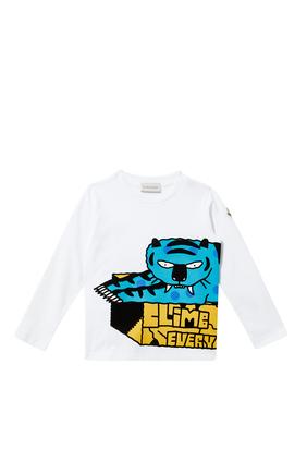 Skate Print Long Sleeved T-Shirt