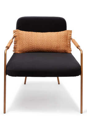 Metallic Chair With Cushion