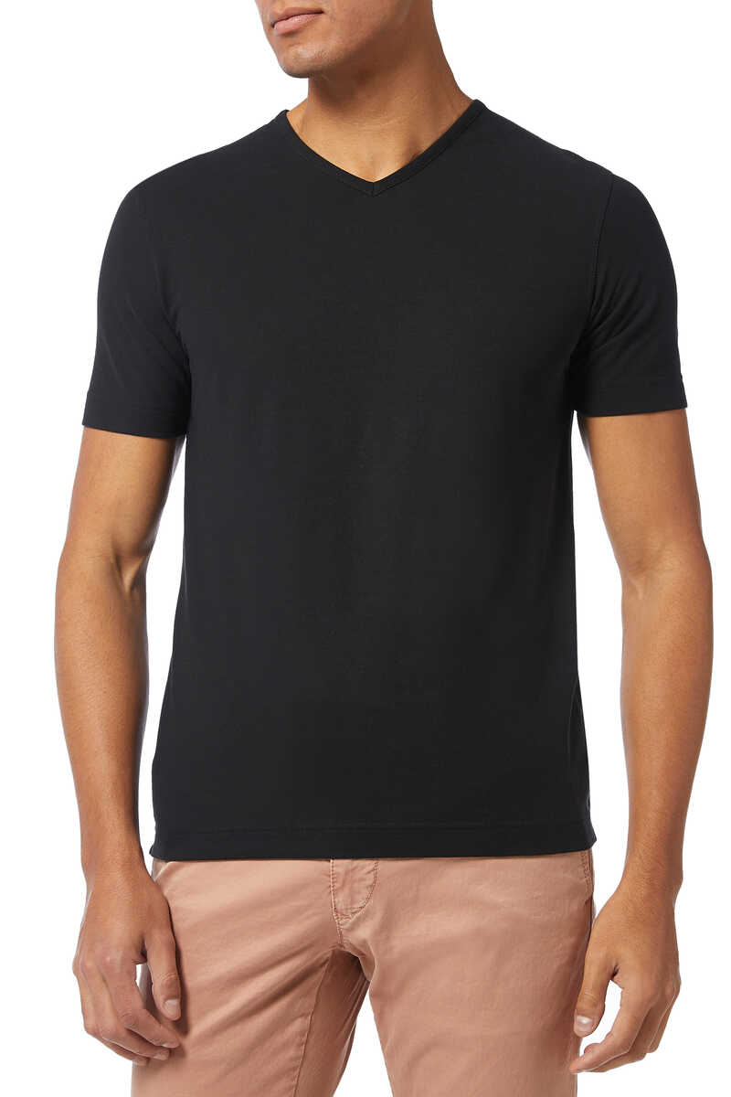 Ice Cotton V-Neck T-Shirt image thumbnail number 1