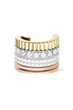 Quatre White Edition Single Clip Earring with Diamonds