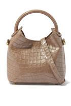 Madeleine Croc-Embossed Leather Bag